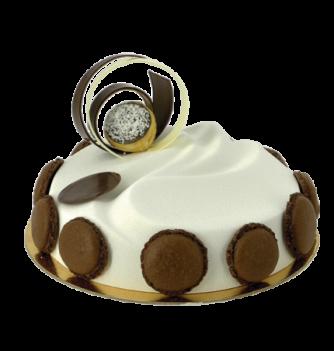 Plastic mold for dessert draped round