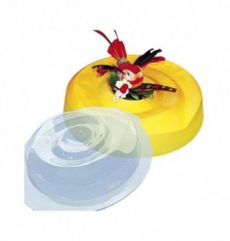 Plastic mold for dessert round 210mm 160mm
