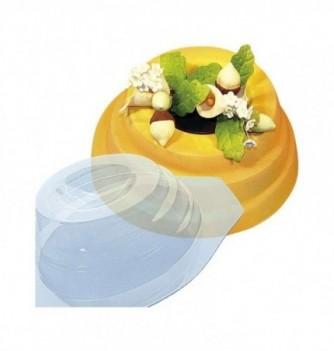 Plastic mold for dessert round 200mm 155mm