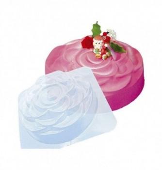 Plastic mold for dessert roses