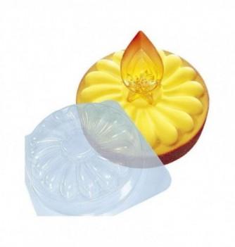 Plastic mold for dessert flower