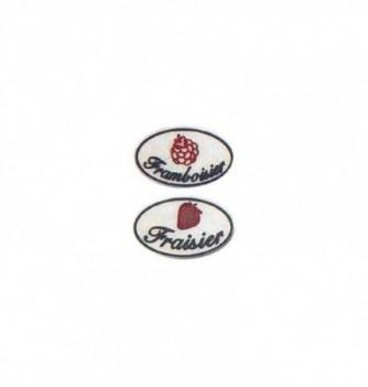 logo relief framboisier-fraisier-50 mm-2pcs