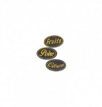 logo relief poire-fruits-citron 40mm