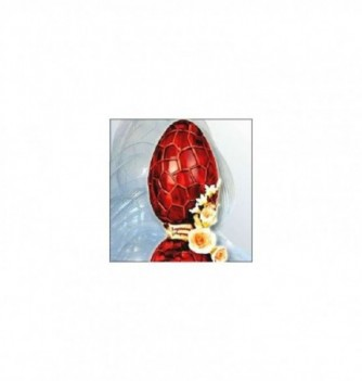 Moule Oeuf Chocolat Demi Coquille Craquelée 13cm